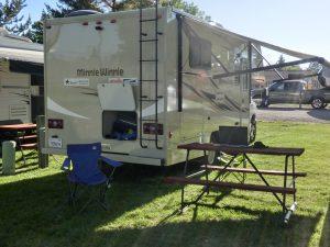 typische Ausstattung am Platz, Klamath Falls